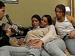 Very Nasty Twin Sisters Fucked By Two Men