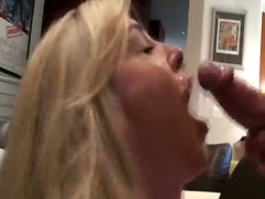 Busty Blonde With Cum Covered Face
