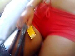 Cameltoe On Bus