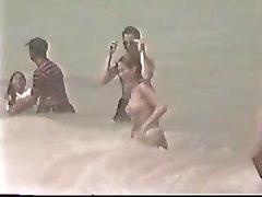 Topless Teen Girl   Beach Video