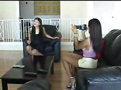Lill Thai Is Doing Her Own One And Playing With Her Girlfriend\s Shaved Pussy