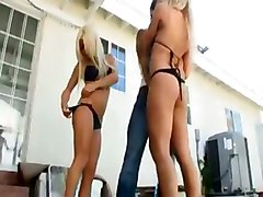 Naughty Blonde Beach Babes