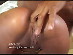 Hot Tan Latina Fucked By Two Guys