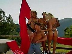 Three Blond Hotties, Dicks And Dildo