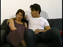 Hairy Mature Milf Seduced A Teen By Her Old Cunt