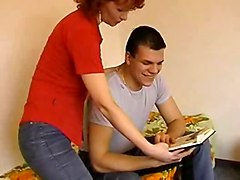 Redhead Milf And Young Boy