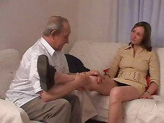 Old Man Fucks His Grandson&039;s Girlfriend