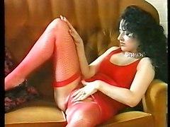 Susanna Francessca Fishnet Stockings Upskirt And Striptease
