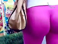 Pink Lycra Waiting Bus