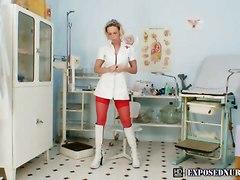 Gabriela Wearing Nurse Uniform Pussy Gaping And Fingering