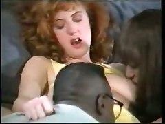Vintage Redhead Interracial Sandwich
