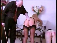 Naughty Girls Punished By Caning