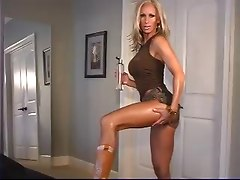 Sexy Blonde Doing Seductive Modeling