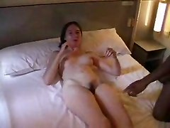 Natural French Amateur Takes Black And White Facial