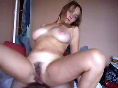 Chubby Chick With Hairy Pussy Riding
