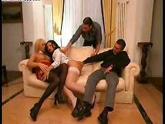Mad Foursome With Tranny And Milf
