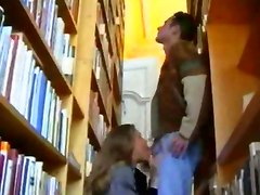Sexy French Babe In Library
