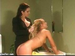 Bitch Mistress Spanking A Blonde