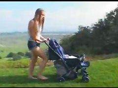 Teen Mom Deepthroating Outside