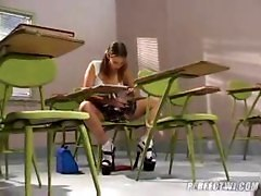 Schoolgirl Receives A Punishment For Cheating