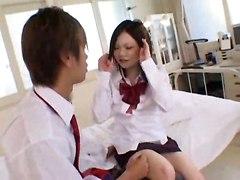 Horny Teacher Teaches Inexperienced Teen To Please A Woman