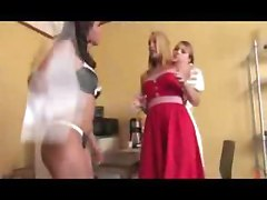 Blonde Bitch Punished By Lesbian Couple