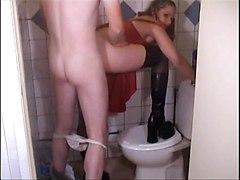 Busty Teen In Toilet
