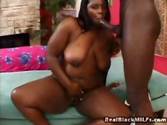 Over 30 Ebony Babe Taking Dick