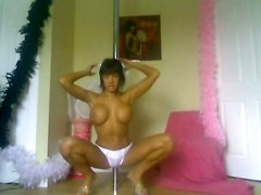 Hot Girl With Big Breasts - Striptease