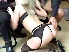 Mr. Bonds British Blonde Office Whore