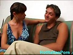 Big Titted Italian Wife Hot Threesome