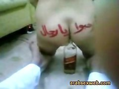 Arab Babe Fucks The Bottle