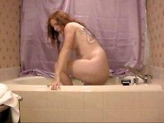 Redhead Ts With Great Boobs Juliette Takes Bath