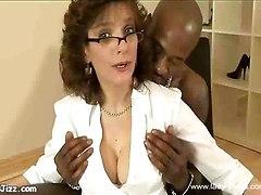 Ebony Breaks In Milf Pussy!