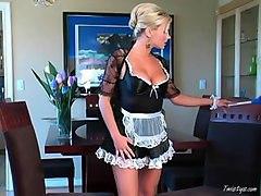 Slutty Maid Bree Olson Fucks Her Pussy