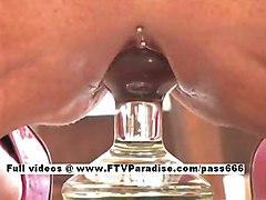 Lilith  Ftv Girls  Brunette Babe Riding Glass Dildo