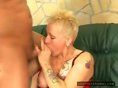 Banging Pierced Tattooed Granny