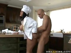 Busty Chef Pounded From Behind