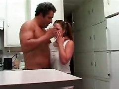 Big Boobs Slut For Wild Sex In The Kitchen