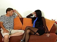 Crazy Brunette Tgirl Looks So Hot!