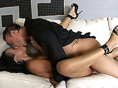 A Maid Gets Fucked And Spermed On The Sofa