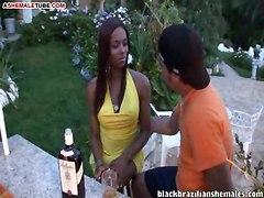 Brazilian Tgirl Gets Facial After Sex On Terrace