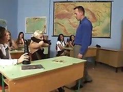 Euro Classroom Orgy