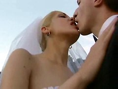 Horny Bride Gangbanged Outdoor
