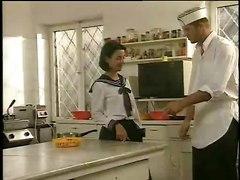 Kitchen Preparation Of Schoolgirls