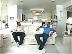 Pregnant White Slave Gets Black Anal