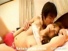 Asian Hairy Hole Swallows Dude Prick
