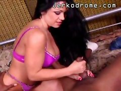Hot Interracial Handjob