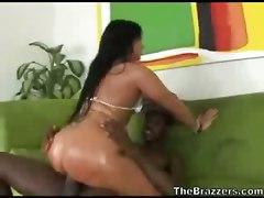 Black Dick Bubble-butt Pounding
