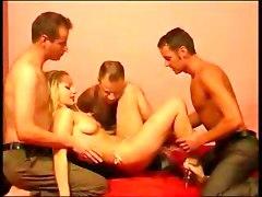 Cute Blonde Loves Orgy 1